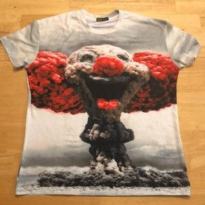 All Over Print Clown Bomb Graphic T Shirt M